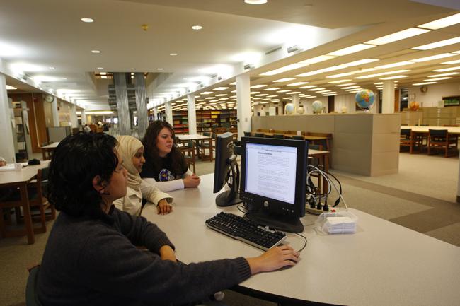 international students-library